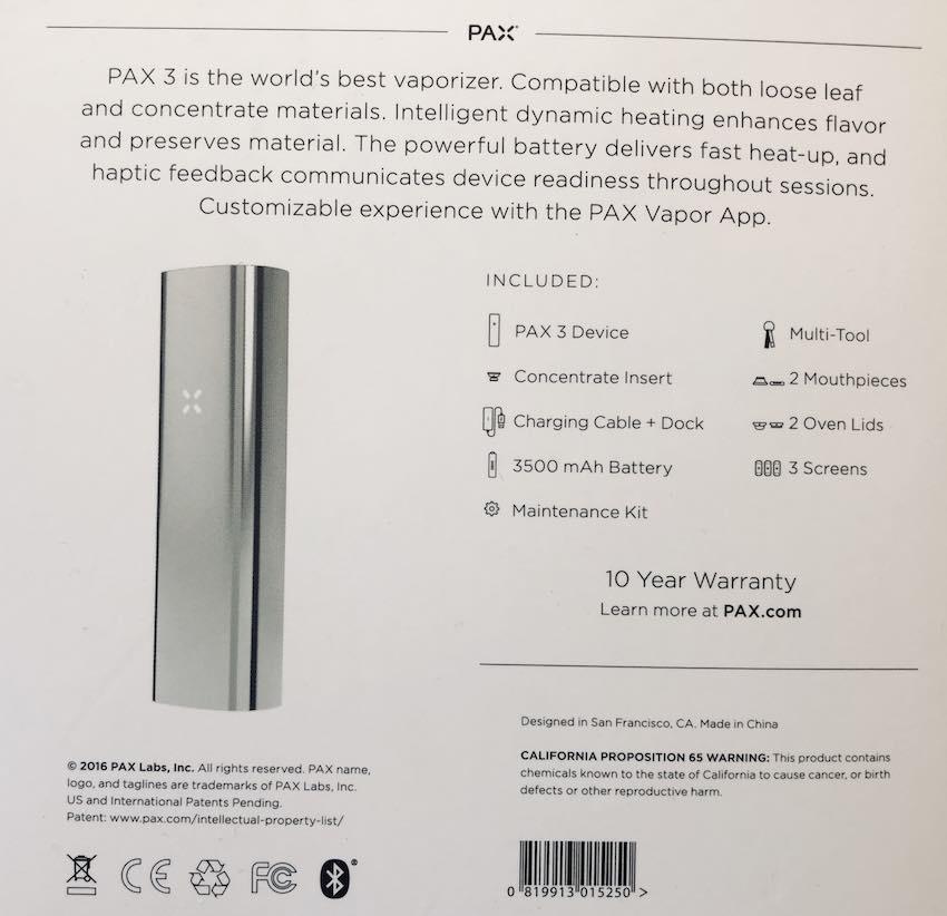 pax 3 device