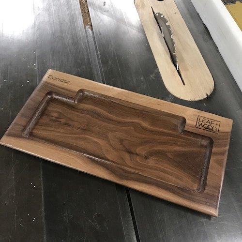 Curidor Leaf and Wood Tray