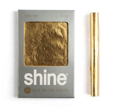 Shine 24k gold rolling paper